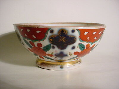 Antique Russian Porcelain Hand Painted Floral Bowl by Brothers Gulin