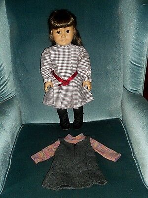 PLEASANT COMPANY American Girl Doll SAMANTHA with MEET DRESS AND 2ND A/G OUTFIT