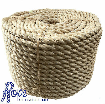Rope - 32 mm Synthetic Sisal,Sisal,Sisal For Decking,Garden & Boating, x 10mts