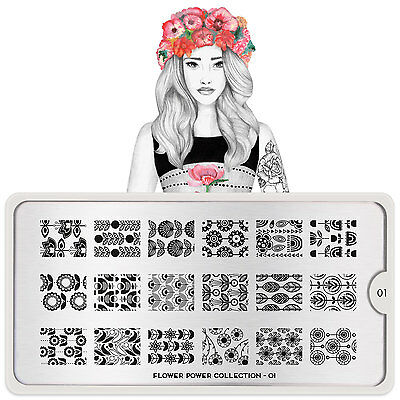 MoYou London FLOWER POWER Stamping Plates  - 16 Plates to choose from