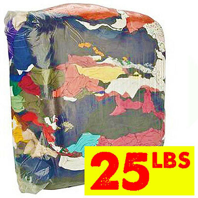 25 lb. Compressed Bag of Colored Rags