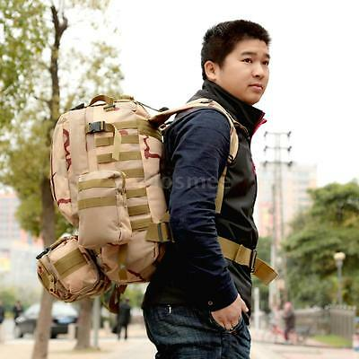 55L Molle Outdoor Military Tactical Bag Camping Hiking Trekking Camo Backpack