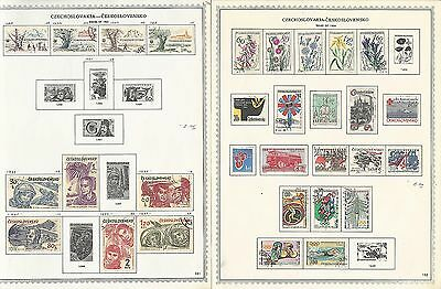 Czechoslovakia Collection 1964 to 1972 on Minkus Specialty Pages, 44 Pages (A)