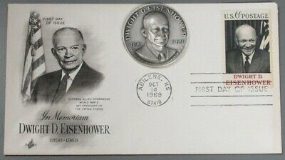 1969 Silver President Dwight Eisenhower High Relief Commemorative Medal & Cover