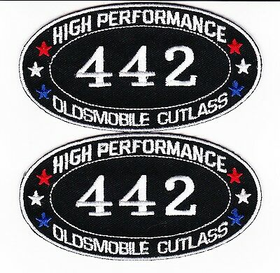 442 Oldsmobile Cutlass Supreme Sew/iron On Patch Embroidered Badge Emblem Car V8