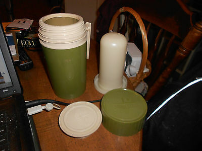 Vintage THERMOS King Seely Green Pint Size MODEL 7202 Complete LOOK!!