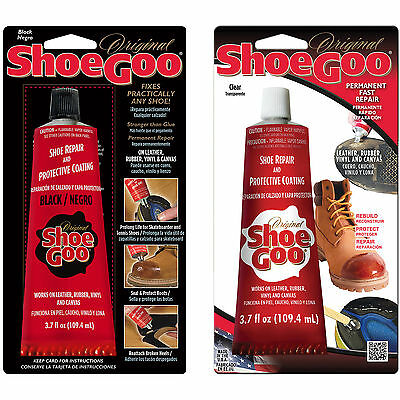 Shoe Goo Shoe Repair 3.7 oz. 2-Pack (1 Clear, 1 Black)