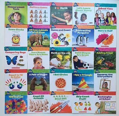 New Set 25 Math Books PreK Kindergarten Grade 1 Guided Reading Level C D E F