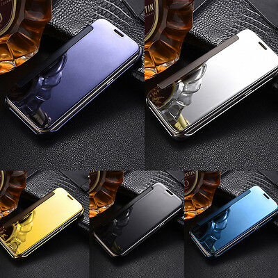 Smart Flip Leather Case Luxury Mirror Cover For Samsung Galaxy S6/S7 Edge Plus