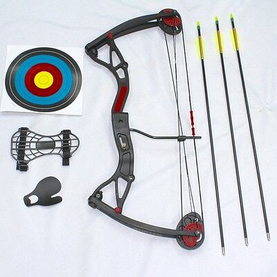 "NEW Kids Compound Bow 5lbs to 22lbs,17""-26"" ""Buster"" Camo or Black Bow & Arrow"