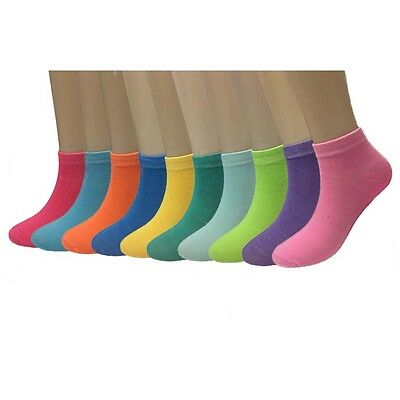 New 6 12 Pairs Womens Cotton Candy Color Sports Fashion Low Cut Socks Size 9-11