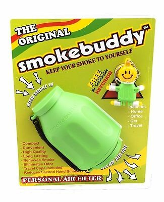 Smoke Buddy Original Personal Air Purifier Cleaner Filter Removes Odor - Lime