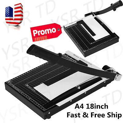 Heavy Duty A4 Paper Guillotine Cutter Trimmer Machine Home Office LKR