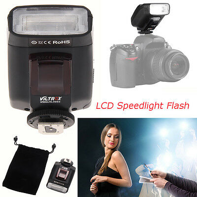 LCD Speedlight Speedlite Flash Flashgun Light for Canon DSLR Camera Camcorder UK