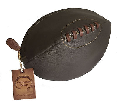 Portland Real Leather Rugby Wash Bag A Fantastic Gift For Any Rugby Fan