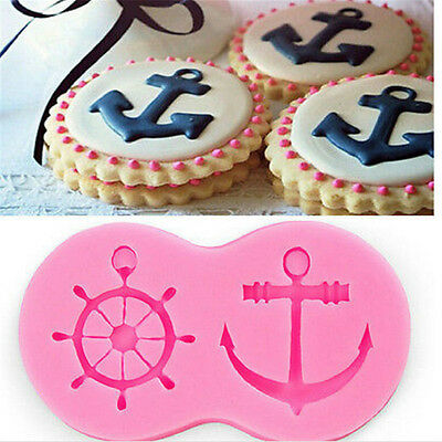 NAUTICAL - Anchor & Ships Wheel  Party 3D Silicone Mould Fondant Cake Decorating