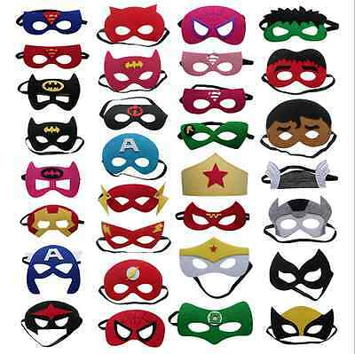 40 Styles Marvel The Avengers Batman Wolverine Spiderman Halloween Party Masks