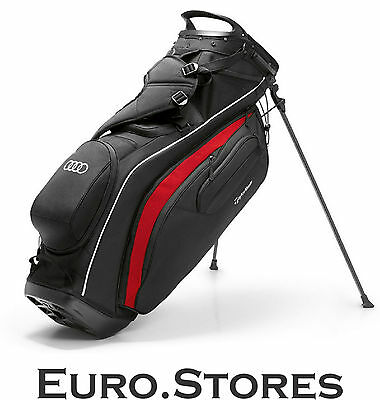 Audi TaylorMade Pure-Lite Stand Golf Bag Black/White/Red 3261600300 Genuine New