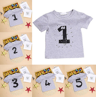 Fashion Kids Baby Boys Short Sleeve T-shirt Top Newborn Summer Outfits Clothes