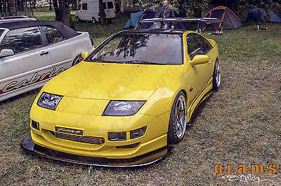 Nissan 300ZX Z32 Gloss Front Bumper Splitter / Lip for Performance Racing v4