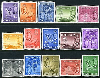 SEYCHELLES-1952 Set to 10r  Sg 158-172 MOUNTED MINT V11180