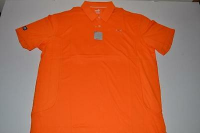 2aa713ec8dca Puma Golf Tech Vibrant Orange Rickie Fowler Dry Fit Polo Shirt Mens Size L  New