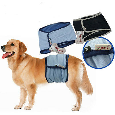 Pet Dog Cotton Belly Band Diaper Sanitary Underwear Physiological Pants MAD