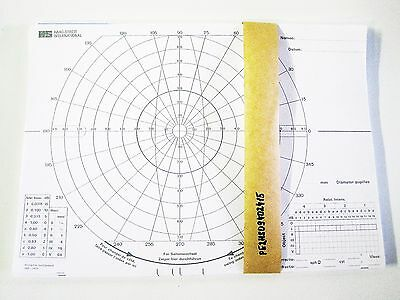 Recording Chart Perimeter (100) Single Sided Light Weight Paper