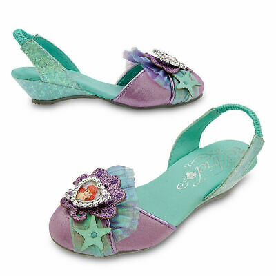 Disney Store Cinderella ROSES Glass Slippers Costume Shoes Girls Heels New