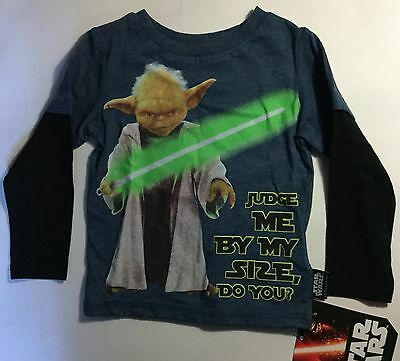 Baby Boy Long Sleeve Top with Star Wars Yoda detail