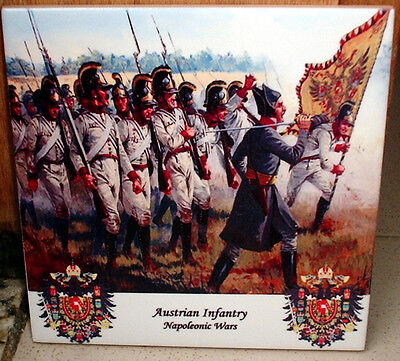 Napoleonic Wars ~AUSTRIAN Infantry advancing~ CERAMIC TILE