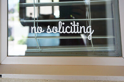No Soliciting Sign Vinyl Decal Sticker  - cute v2