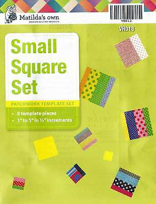Matilda's Own Small Squares Patchwork Template Set