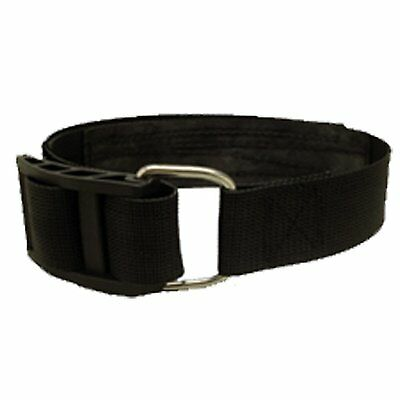 Soft Band BCD Tank Strap with Buckle Scuba Dive Diving Black TA06