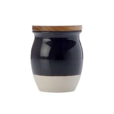 NEW Maxwell & Williams Artisan Dipped Canister 500ml Charcoal