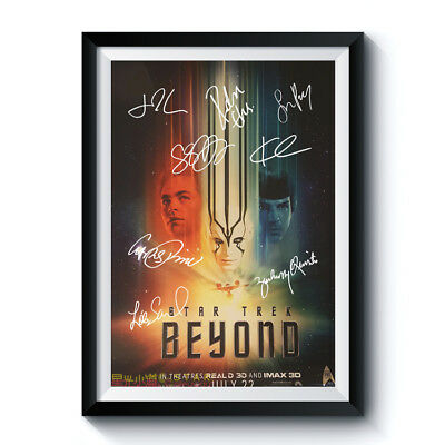 STAR TREK BEYOND Movie Cast PP Signed Reprint Poster A4 CHRIS PINE QUINTO PEGG