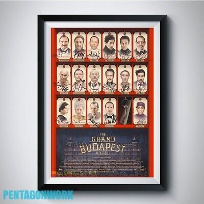 THE GRAND BUDAPEST HOTEL Movie All Cast Autograph Reprint Poster A4 A3 PP Signed