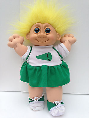Russ Troll Kidz Cheerleader Stuffed Soft Troll Doll Costume Halloween Large 13""