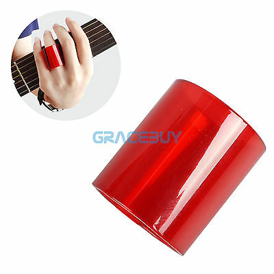 Guitar String Glass Slide Bottle Tube Tone Bar Finger Slide for Guitar Bass Red