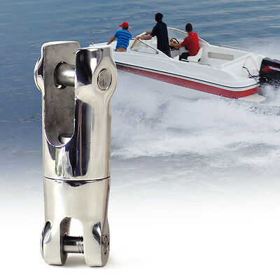 """Silver Stainless Steel 1/4"""" - 5/16"""" Marine Chain Anchor Double Swivel Connector"""