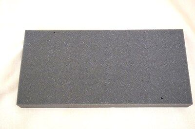 """LOT OF 2 -Recycled foam packing block shipping gray protection 5.5 x 12 thick 1"""""""
