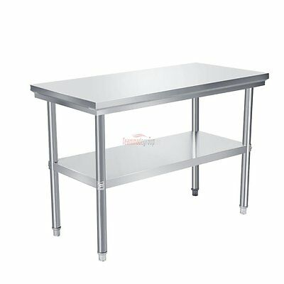 "New Stainless Steel Commercial Kitchen Restaurant Food Work Prep Table - 24""x48"""