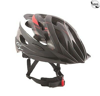 SPORT DIRECT Vento Adult Black & Red Cycle Helmet 58-61cm - SH540