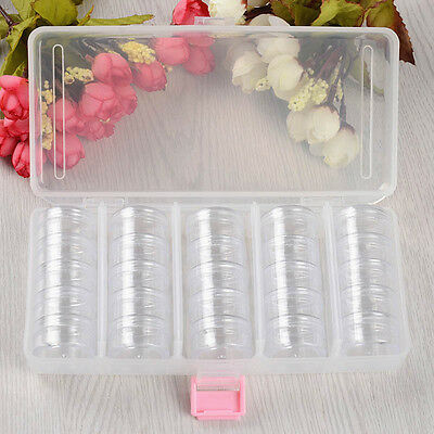 1 Pc 25 x Powder Paillette Nail Art Storage Box Container Organizer Case