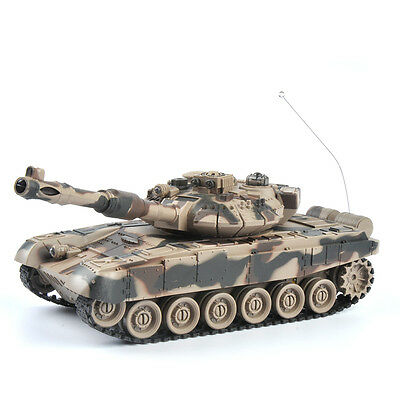 1/28 Infrared RC Battle T90 Remote Control Rechargeble Tank 27Mhz 330° Rotation