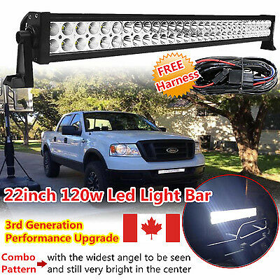 22inch 120W LED WORK LIGHT BAR FLOOD SPOT OFFROAD 4WD POLARIS SUV ATV TRUCK 20""