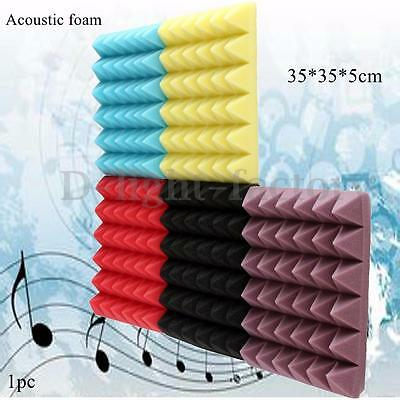 Acoustic Foam Sound Treatment Absorption Proofing Pyramid Wedge Tiles 35x35x5cm