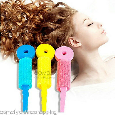 3Pcs Soft Foam Hair Bendy Rollers Curlers Twist Spiral Sponge Magic Styling Tool