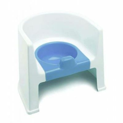 The Neat Nursery Toilet Training Steady Potty Chair (White/Blue)