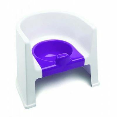 The Neat Nursery Toddler Toilet Training Steady Potty Chair (White/Plum)
